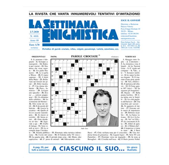 Immagine di SALDO A COPERTURA ACQUISTO ANOMALO PER ABBONAMENTO ANNUALE ALLA SETTIMANA ENIGMISTICA