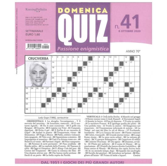 Immagine di DOMENICA QUIZ - Abbonamento 1 anno (Italia) 52 numeri (DW04B021X)