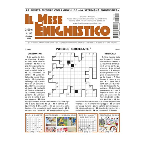 Immagine di RINNOVO ITALIA - IL MESE ENIGMISTICO - Abbonamento 12 mesi